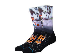 Stance x White Men Can't Jump - Sid And Billy Black Crew Socks A558D20SID-BLK