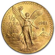 1/2 oz Gold Mexican Onza and/or Libertad Coin - Random Year - SKU #22361