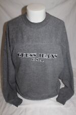 Vintage Guess Jeans USA Spell Out Georges Marciano Men's Dark Gray Sweater Small