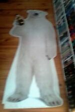 bundaberg rum bundy bear corfute 6ft stand holding newish bottle