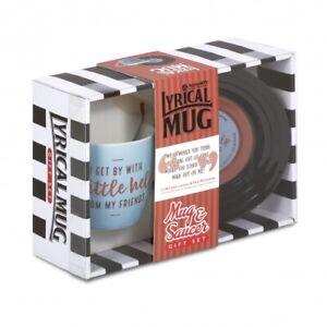 Lennon & McCartney LITTLE HELP FROM MY FRIENDS Mug & Saucer Gift Set The Beatles