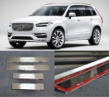 Door Sill Scuff Plate Guards Sills For Volvo XC90 2014-2017 Threshold Protectors