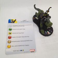 Heroclix Fear Itself set Loki #101 Limited Edition figure w/card!