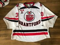Josh Graziano Brantford 99ers White Game Used Jersey OJHL CJHL Union College 30