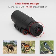 Day and Night Vision 40x60 HD Optical Monocular Hunting Camping Hiking Telescope