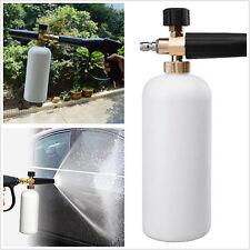 Adjustable Snow Foam Lance Washer Trim Car Care Wash Gun Soap Pressure Bottle 1L
