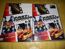 DVD-FAST AND FURIOUS COLLECTION-1-2-3-COFANETTO-3 DVD-TOKYO DRIFT-2 FAST 2-2015