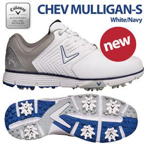 Callaway Chev Mulligan S Men's Golf Shoes White/Navy - NEW! 2021