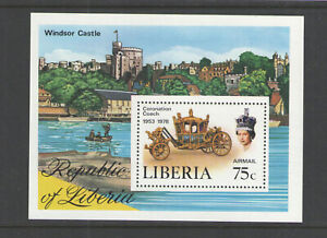 1978 LIBERIA Sc # C221 ROYALTY QUEEN ELIZABETH SOUVENIR SHEET MINT NEVER HINGED