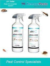 Bed Bug Bedbugs Killer Poison Treatment Spray 2 X 1l Bottles