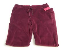 S Womens Jogger Style Fuzzy Velour Red Sweatpants Xhilaration New