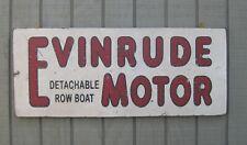 PRIMITIVE VINTAGE EVINRUDE OUTBOARD MOTORS REPLICA TRADE SIGN