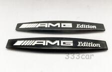 Pair 5.5.AMG fender badge Decal Car Body Side Skirt Sticker Emblem A E C GLC