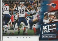 TOM BRADY ROOKIE STAR Action Packed R&S Football Card NEW ENGLAND PATRIOTS