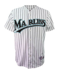 Majestic Florida Marlins Mens Replica Jersey Official MLB Merchandise White Tag
