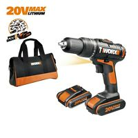 WORX WX371.3. 18V (20V MAX) Cordless Combi Hammer Drill with x2 1.5Ah Batteries