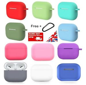 AIRPOD PRO CASE SILICONE PROTECTIVE WITH KEYCHAIN, UK SELLER