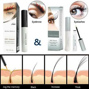 100% Natural Eyelash/Eyebrow Enhancer Quick Growth Serum Liquid 3ML New