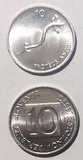 Slovenia 10 Stotinov 1992/1993  axolotl 16mm alum coin UNC