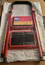 Step Ladder 2 Folding Step Stool Ladder w/Handle Anti-slip Pedal Aluminum NEW