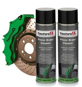 TechniQ Power Brake Cleaner Brake Caliper 500ml Aerosol Spray x 2 Cans