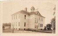 C24/ Byron Minnesota Mn Real Photo RPPC Postcard c1930 Public School Building