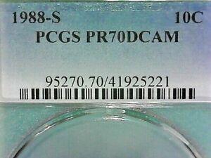 UNITED STATES--P.C.G.S.1988-S PR70DCAM  ROOSEVELT CLAD DIME KM#195a