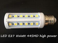 LED Lampada a risparmio energetico lampadina Faretto E27 8W SMD bianco freddo