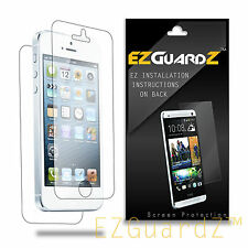 2X EZguardz FULL BODY Clear Screen Protector Shield 2X For Apple iPhone 5S