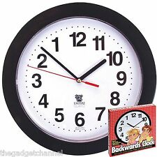 BACKWARDS CLOCK UNUSUAL FUNNY JOKE MENS FATHERS BOYS NOVELTY BIRTHDAY PRESENT