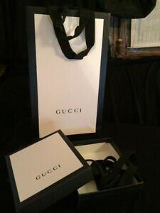 GUCCI petite boîte accessoires + ruban, sac, carte TBE ! 13 x 11 x 3,5cm