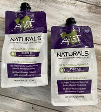 Splat Naturals Semi-permanent Hair Color Purple Best of Brunettes 6oz - LOT OF 2