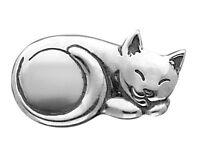 Cat Pin Brooch in Sterling Silver