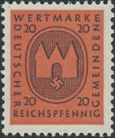 Stamp Germany Revenue WWII 3rd Reich Occupation Wertmarke Local Issue 20 MNH