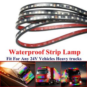 Truck Trailer Night LED Colour Body Front Light Waterproof Strip Lamp 24V IP68
