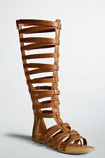 NWT Torrid Size 11W Brown Tall Gladiator Cage Sandals (Wide Width & Wide Calf)