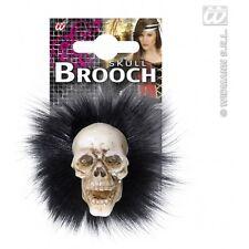 SKULL Fermagli con piume gioielli per Voodoo Black Magic satanico culto fa