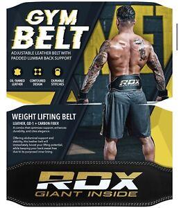 RDX 6R 6 Inch Leather Gym/weightlifting Leather Belt