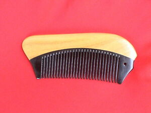 "4.84"" SUPERIOR QUALITY TRAVEL OX HORN/SANDAL WOOD COMB - FOR ALL HAIR! NEW!"