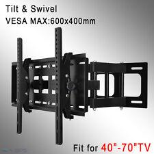 """TV Wall Mount Bracket Full Motion Tilt Swivel LCD LED 40 48 50 55 60 70"""" Plasma"""