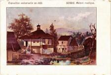 CPA EXPO 1900 PARIS SERBIE Maison rustique (562953)