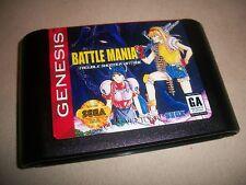 Sega Genesis Battle Mania 2 Trouble Shooter Vintage NTSC English Game