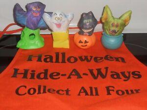 SEALED Set Hardee's 1989 Halloween Hide-A-Ways Hallmark Smooshees + PROMO APRON