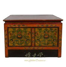 Antique Tibetan Painted Square Coffee Table 18Lp80