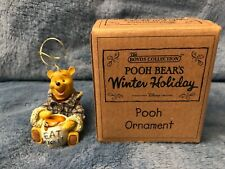 DISNEY BOYD'S POOH BEAR'S WINTER HOLIDAY ORNAMENT RETIRED RARE HTF WITH BOX NEW