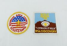 Vintage Pair BSA Patches Scout O Rama Redwood Area Gold Rush Ca Boy Scout 1975