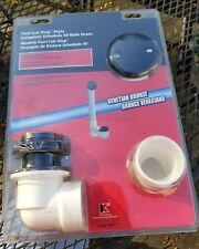 Keeney Foot Lok Stop Style Complete Schedule 40 Bath / Tub Drain-VENETIAN BRONZE