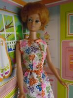 Mattel Vintage Titan Bubble Cut Barbie Doll w/Genuine Vintage Barbie Fashion EUC
