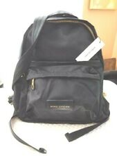 Marc Jacobs Varsity Black Nylon Backpack with Leather Accents, NWT