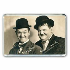 Laurel & and Hardy CLASSIC -DOUBLE DERBY POSE'  Jumbo Fridge / Locker Magnet